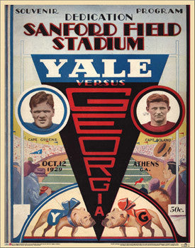 "Georgia Bulldogs 1929 ""Sanford Opener"" Vintage Program Cover Poster Print - Asgard"