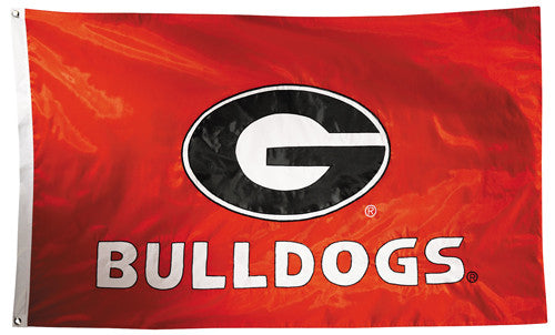Georgia Bulldogs Official NCAA Premium Nylon Applique 3'x5' Flag - BSI Products Inc.