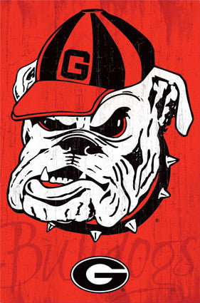 University of Georgia Bulldogs Official NCAA Logo Poster - Costacos 2013
