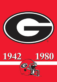 "Georgia Bulldogs ""2-Time Football Champs"" Banner - BSI"