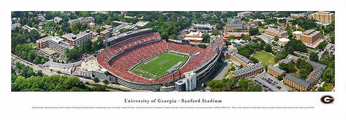 Georgia Bulldogs Football Aerial Panorama - Blakeway 2008