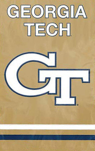 "Georgia Tech Yellow Jackets ""GT"" Premium Applique Team Banner Flag - Party Animal"