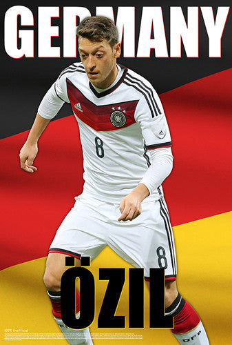 "Mesut Ozil ""German Glory"" World Cup 2014 Soccer Superstar Poster - Starz"