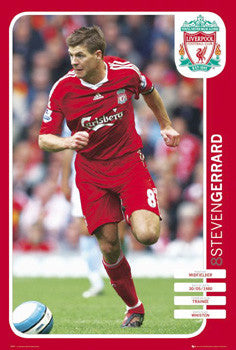 "Steven Gerrard ""Action 8"" Liverpool FC Poster - GB Eye 2008"