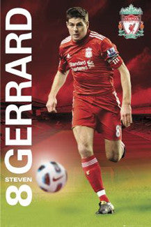 "Steven Gerrard ""SuperAction"" (2011) Liverpool FC Poster - GB Eye"