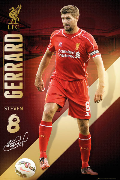 Steven Gerrard Liverpool FC Signature Series EPL Action Poster - GB Eye (UK)