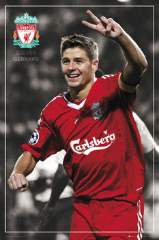 "Steven Gerrard ""Victory!"" Liverpool FC Poster - GB Eye 2008"