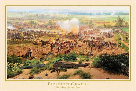 "Gettysburg Cyclorama ""Pickett's Charge Detail"" Civil War Poster - Eurographics Inc."