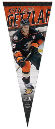 "Ryan Getzlaf ""Signature Series"" Anaheim Ducks NHL Premium Felt Collector's Pennant - Wincraft"