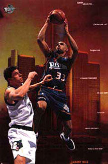 "Grant Hill ""Have a Nice Day"" Detroit Pistons NBA Basketball Poster - Costacos 1997"