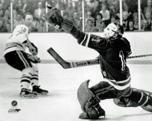 "Ed Giacomin ""Glove Save"" (c.1971) New York Rangers Premium Poster Print - Photofile Inc."
