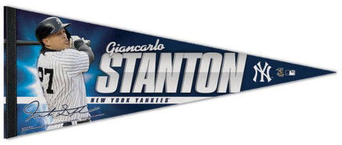 "Giancarlo Stanton ""Superstar"" New York Yankees Signature Series Premium Felt Pennant - Wincraft"