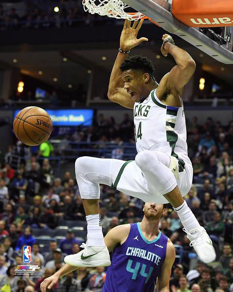 "Giannis Antetokounmpo ""Freak Slam"" (2018) Milwaukee Bucks NBA Action Premium Poster - Photofile 16x20"