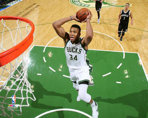 "Giannis Antetokounmpo ""SuperSlam"" Milwaukee Bucks NBA Action Premium Poster - Photofile 16x20"