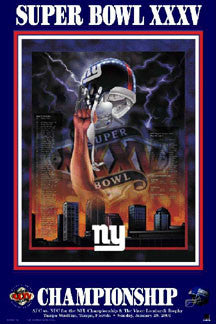 "New York Giants ""Super Season XXXV"" - Action Images 2001"