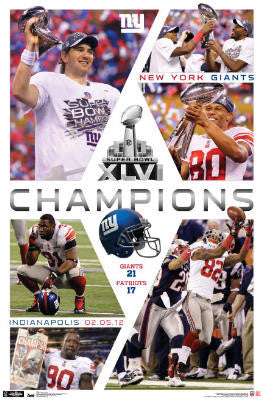 "New York Giants ""CELEBRATION XLVI"" Championship Commemorative Poster (2012)"