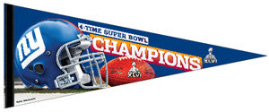 New York Giants Super Bowl Champs XLVI Champs Premium Felt Pennant