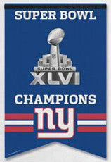 New York Giants Super Bowl XLVI Premium Felt Banner - Wincraft