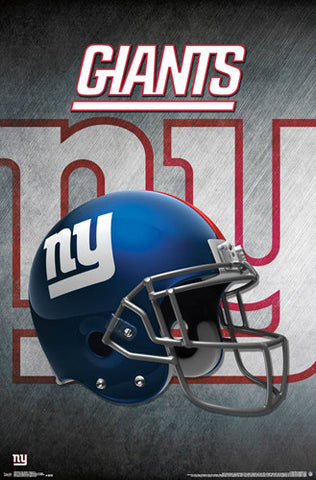 New York Giants Official NFL Football Team Helmet Logo Poster - Trends International