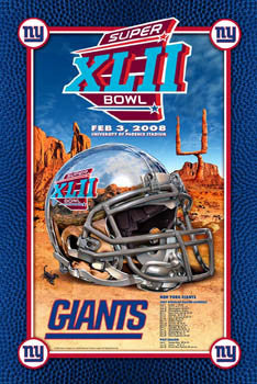 "New York Giants ""Super Bowl XLII Bound"" (2008)  Commemorative Poster - Action Images"