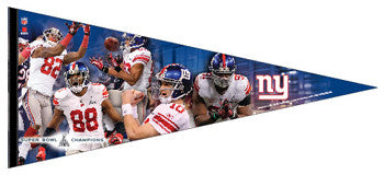 "New York Giants ""Super Bowl XLVI Heroes"" EXTRA-LARGE Premium Pennant"