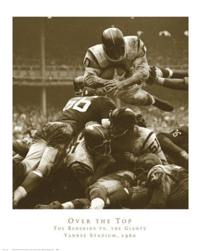 "Washington Redskins vs New York Giants ""Over the Top"" (1960) Poster Print"
