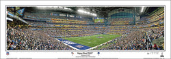 Super Bowl XLVI (New York Giants 21, Patriots 17) Panoramic Poster Print - Everlasting 2012