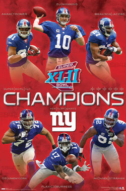 New York Giants Super Bowl XLII Champions Commemorative Poster - Costacos 2008
