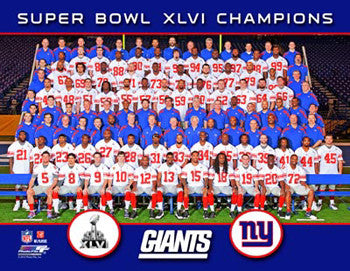 New York Giants Super Bowl XLVI (2012) Official Championship Team Portrait