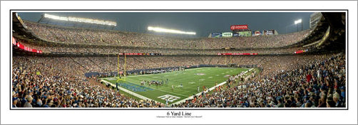 "New York Giants Stadium ""6 Yard Line"" (2008) Panoramic Poster Print - Everlasting Images"