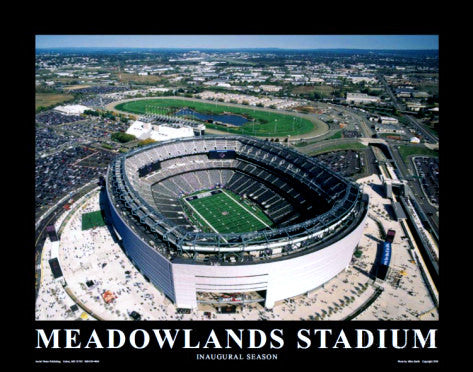 "New York Giants Meadowlands Stadium ""From Above"" Poster - Aerial Views 2010"