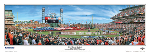 San Francisco Giants World Series 2014 Game Three Panoramic Poster Print - Everlasting Images