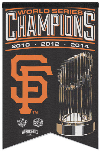 San Francisco Giants 3-Time World Series Champions Premium Felt Banner - Wincraft Inc.