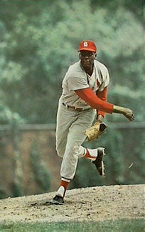 Bob Gibson St. Louis Cardinals MLB Action Poster - Major League Posters 1968