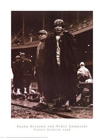 Frank Gifford & Vince Lombardi (New York Giants 1956) Classic Poster Print - NYGS