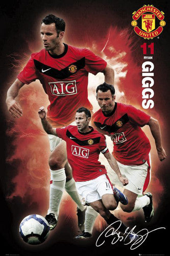 "Ryan Giggs ""Signature Series"" Manchester United Poster - GB Eye 2010"
