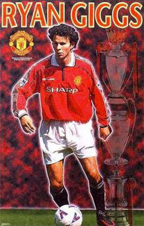 "Ryan Giggs ""Champion"" Manchester United FC Poster - Starline Inc. 1999"