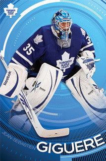 "Jean-Sebastian Giguere ""In the Zone"" Toronto Maple Leafs Goalie Action Poster - Costacos 2010"
