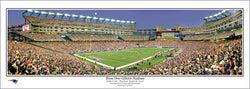 "New England Patriots ""Moon Over Gillette Stadium"" (10/9/2011) Panoramic Poster - Everlasting (MA-305)"