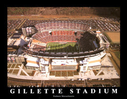 "Gillette Stadium ""From Above"" New England Patriots Gameday Aerial Poster Print - Aerial Views"