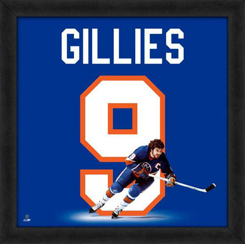 "Clark Gillies ""Number 9"" New York Islanders FRAMED 20x20 UNIFRAME PRINT - Photofile"
