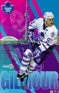 "Doug Gilmour ""Slapshots"" Toronto Maple Leafs NHL Hockey Action Poster - Starline 1994"
