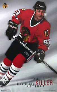 "Doug Gilmour ""Killer Instinct"" Chicago Blackhawks Poster - Costacos 1998"