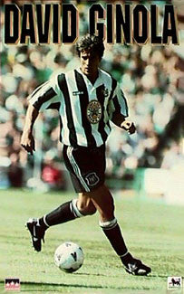 "David Ginola ""Action"" Newcastle United Poster (1995) - Starline Inc."