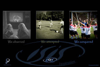 "Girls Soccer ""We Conquered"" Motivational Poster - IS Inspiration"