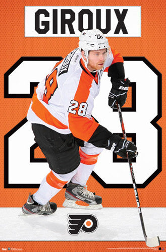 "Claude Giroux ""Super 28"" Philadephia Flyers NHL Action Poster - Costacos Sports"