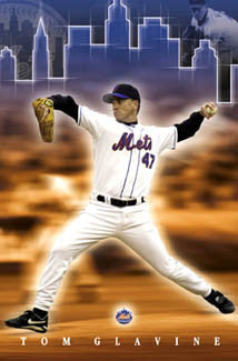 "Tom Glavine ""New York, New York"" Mets Poster - Costacos 2003"
