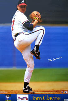 Tom Glavine Signature Series Atlanta Braves Poster - Marketcom 1991