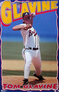 "Tom Glavine ""Superhero"" Atlanta Braves Poster - Norman James Corp. 1996"