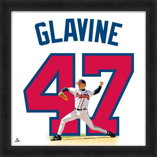 "Tom Glavine ""Number 47"" Atlanta Braves MLB FRAMED 20x20 UNIFRAME PRINT - Photofile"